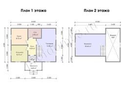 Дом из бруса проект Ильдар - вид 3