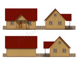 Дом из бруса проект Ильдар - вид 4