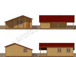 Дом из бруса проект Ильнур - вид 2