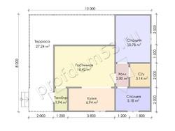 Дом из бруса проект Ильнур - вид 3