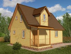 Дом из бруса проект Ильшат - вид 1