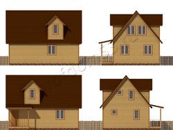 Дом из бруса проект Ильшат - вид 2