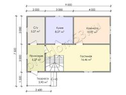 Дом из бруса проект Ильшат - вид 3