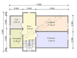 Дом из бруса проект Ильшат - вид 4