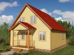 Дом из бруса проект Илья - вид 1