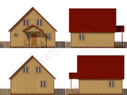 Дом из бруса проект Илья - вид 2