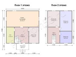 Дом из бруса проект Илья - вид 3