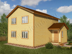 Дом из бруса проект Имран - вид 1