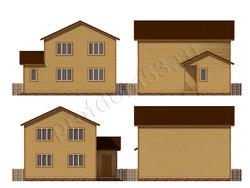 Дом из бруса проект Имран - вид 2