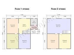 Дом из бруса проект Имран - вид 3
