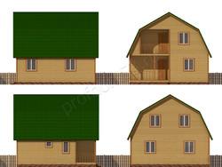 Дом из бруса проект Иннокентий - вид 2
