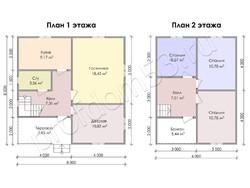 Дом из бруса проект Иннокентий - вид 3