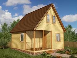 Дом из бруса проект Ириней - вид 1