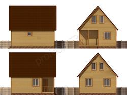 Дом из бруса проект Ириней - вид 2