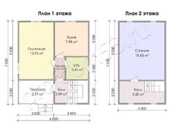 Дом из бруса проект Ириней - вид 3
