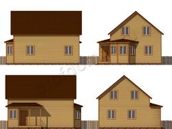 Дом из бруса проект Исаак - вид 2