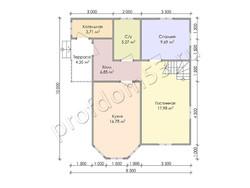 Дом из бруса проект Исаак - вид 3