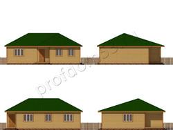 Дом из бруса проект Исмаил - вид 2