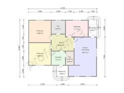 Дом из бруса проект Исмаил - вид 3