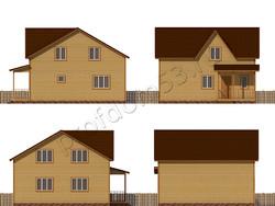 Дом из бруса проект Итан - вид 2