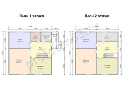 Дом из бруса проект Итан - вид 3