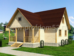 Дом из сухого бруса проект Иван - вид 1