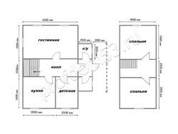 Дом из бруса проект Иван - вид 2