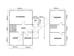 Дом из сухого бруса проект Иван - вид 2