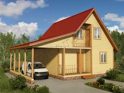 Дом из бруса проект Камиль - вид 1