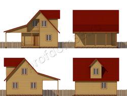 Дом из бруса проект Камиль - вид 2