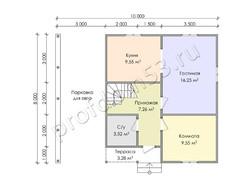 Дом из бруса проект Камиль - вид 3