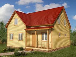 Дом из бруса проект Карен - вид 1