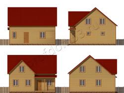 Дом из бруса проект Карен - вид 2
