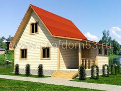 Дом из сухого бруса проект Кирилл - вид 1