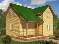 Дом из бруса проект Клаус - вид 1