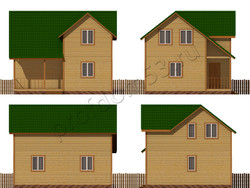 Дом из бруса проект Клаус - вид 2
