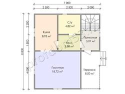 Дом из бруса проект Клаус - вид 3