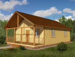 Дом из бруса проект Клим - вид 1