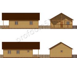 Дом из сухого бруса проект Клим - вид 2