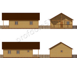 Дом из бруса проект Клим - вид 2