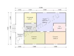 Дом из сухого бруса проект Клим - вид 3