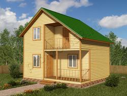 Дом из бруса проект Конрад - вид 1