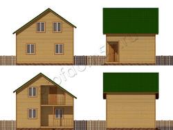Дом из бруса проект Конрад - вид 2
