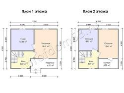 Дом из бруса проект Конрад - вид 3