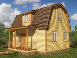 Дом из бруса проект Константин - вид 1