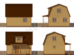 Дом из бруса проект Константин - вид 2