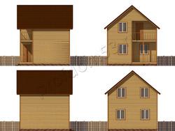 Дом из сухого бруса проект Корнелий - вид 2