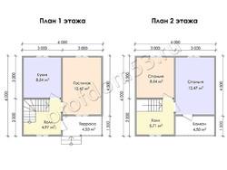 Дом из сухого бруса проект Корнелий - вид 3