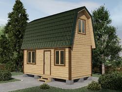 Дом из бруса проект Кузьма - вид 1