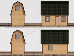 Дом из бруса проект Кузьма - вид 2